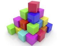 Ladrillos apilados de los juguetes en pirámide stock de ilustración