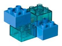 Ladrillos azules del juguete Foto de archivo