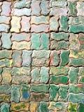 Ladrillos coloridos del pavimento Imagen de archivo libre de regalías