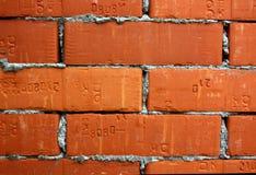 Ladrillos con el cemento Fotos de archivo libres de regalías