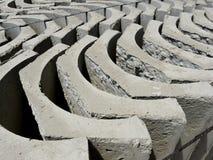 Ladrillos concretos Fotografía de archivo