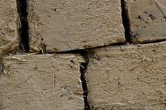 Ladrillos de adobe secados al sol Fotografía de archivo libre de regalías