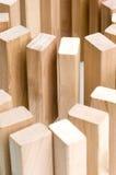 Ladrillos de madera Fotos de archivo libres de regalías