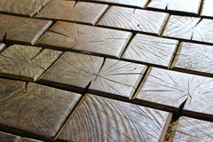 Ladrillos de madera Fotografía de archivo libre de regalías