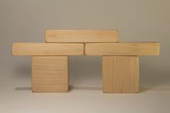 Ladrillos de madera Foto de archivo