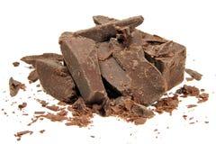 Ladrillos del chocolate Fotos de archivo