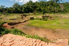 Ladrillos del fango Foto de archivo libre de regalías