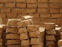Ladrillos del fango Fotos de archivo libres de regalías