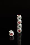 Ladrillos del póker Foto de archivo
