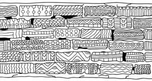 Ladrillos Libro de colorear para los adultos Estilo de Zentangle ilustración del vector