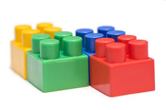 Ladrillos plásticos del juguete Fotos de archivo