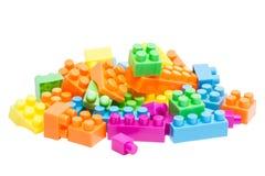 Ladrillos plásticos del juguete Imágenes de archivo libres de regalías