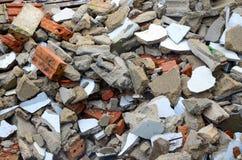 Ladrillos quebrados Imagen de archivo libre de regalías