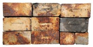 Ladrillos quemados Foto de archivo libre de regalías
