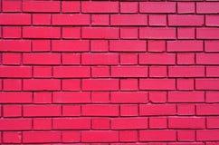 Ladrillos rojos de la pintura del ladrillo de la albañilería del fondo de la pared Fotografía de archivo