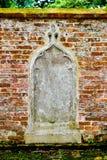 Ladrillos rojos del alivio de piedra imagen de archivo