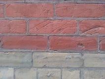 Ladrillos rojos y beige Imagen de archivo libre de regalías