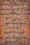 Ladrillos rotos pared vieja del fondo Foto de archivo