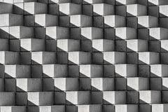 Ladrillos y sombras de Astract en blanco y negro Foto de archivo libre de regalías