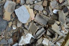 Ladrillos y tableros de la ruina Fotos de archivo libres de regalías