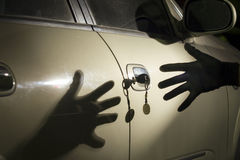 Ladr?n de coches Imagenes de archivo