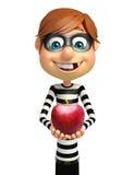 Ladro con Apple royalty illustrazione gratis