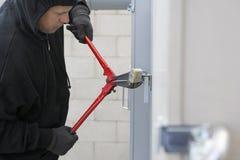 Ladro Cutting Lock Fotografie Stock Libere da Diritti