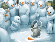 Ladro del coniglietto Immagini Stock