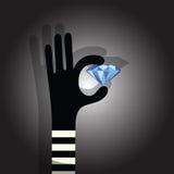 Ladro del diamante royalty illustrazione gratis
