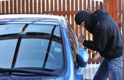 Ladro di automobile Fotografie Stock
