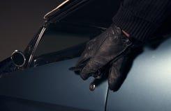 Ladro di automobile Fotografia Stock