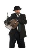 Ladro di banca munito Fotografie Stock Libere da Diritti