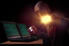 Ladro di Cyber Immagini Stock
