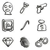 Ladro Icons Freehand Fotografia Stock Libera da Diritti