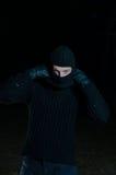 Ladro nello scuro Fotografia Stock Libera da Diritti