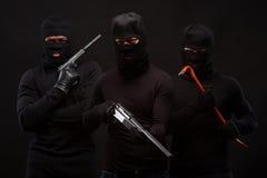 Ladrones con el rifle fotos de archivo libres de regalías