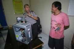 Ladrones del ordenador Fotos de archivo libres de regalías