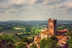 Ladscape Сан Miniato в Тоскане Стоковая Фотография