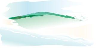 Ladscape aqua Stock Image