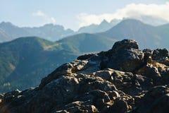 Ladscape da montanha com rochas Fotos de Stock