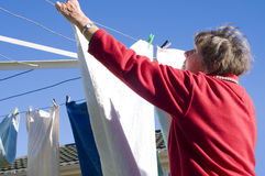 Ladu and washing line Royalty Free Stock Photography
