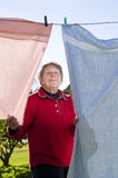 Ladu and washing line Stock Photography