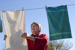 Ladu and washing line Royalty Free Stock Photo