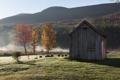Ladugård för Catskill berg med Autumn Trees royaltyfria bilder