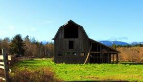 Ladugård för Vancouver ö Arkivfoto