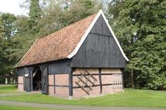 Ladugård i museet för öppen luft i Ootmarsum Arkivbilder