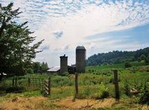 Ladugård och silo Royaltyfri Fotografi