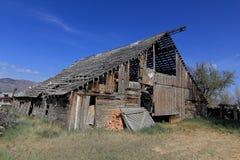 ladugården dilapidated Fotografering för Bildbyråer