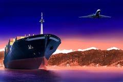 Ladung und Verschiffenkonzept stockfotos