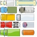 Ladungautos overhand Stockbilder